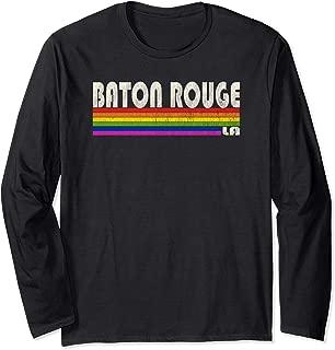 Vintage 80's Style Baton Rouge LA Gay Pride Month Long Sleeve T-Shirt