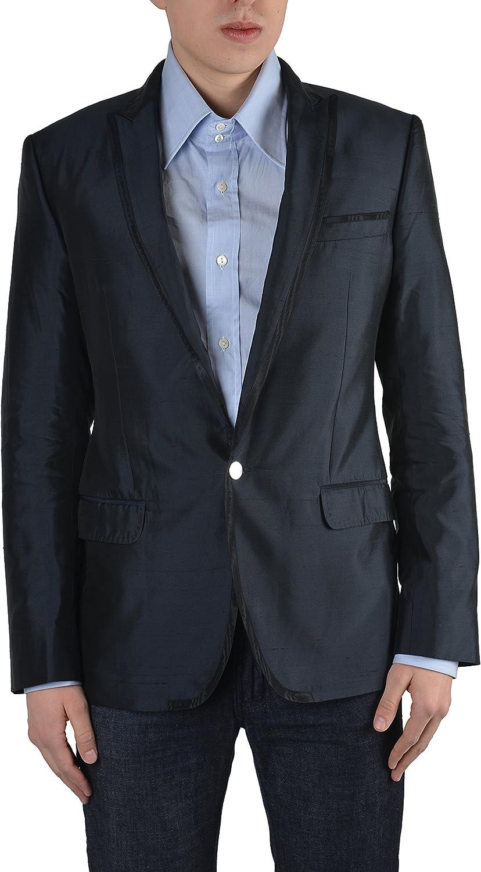 Dolce & Gabbana Men's Dark Blue One Button Blazer Size US 38 IT 48