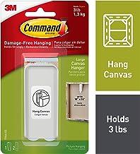 Command Large Canvas Hanger 1/pkg-1 White Hanger & 2 Strips
