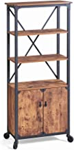 Rustic Library (1-Piece Country Library, Weathered Pine)