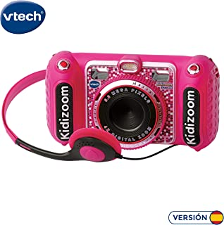 VTech- KIDIZOOM Duo DX 1 Rosa. Cámara de fotos digital con 10 funciones diferentes (3480-520057) , color/modelo surtido