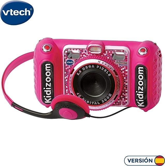 VTech- KIDIZOOM Duo DX 1 Rosa. Cámara de fotos digital con 10 funciones diferentes (3480-520057)
