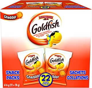 Goldfish Cheddar Crackers, 22 Snack Packs, 28 Grams ( Packaging may vary )