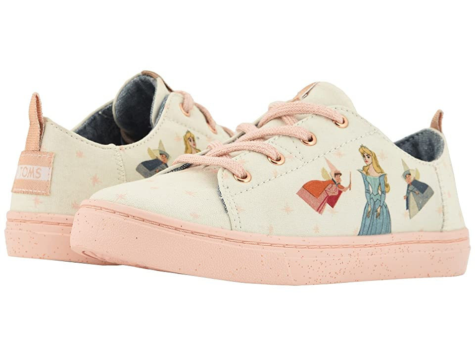 TOMS Kids Lenny Disney(r) Princesses (Little Kid/Big Kid) (Natural Fairy Godmother Printed Canvas) Girl
