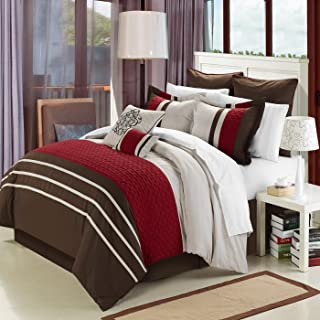 Koran Burgundy King 12 Piece Comforter Bed In A Bag Set With Sheet Set