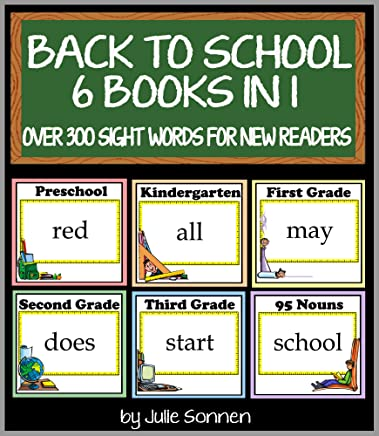 Back to School - 6 Books in 1: Over 300 Sight Word Flashcards for New Readers (Back to School Sight Words for New Readers Book 7) (English Edition)