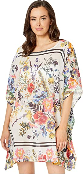 5489fe821cc1e Echo Design Bicolor Floral Silk Butterfly Cover-Up at Zappos.com