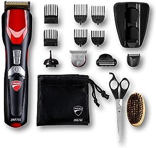 11500 Imetec Ducati Gk 818 Race - Kit Recortador de barba, 16 en 1 para cara y cuerpo, cuchillas Revestidas de Titanio, Cu...