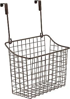 Spectrum Diversified Over The Cabinet Grid Storage Basket, Large, Bronze