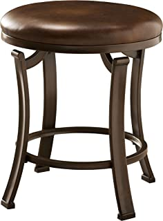 Hillsdale Furniture 50975A Hastings Backless Vanity Stool, Antique Brown
