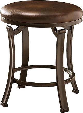 Hillsdale Furniture 50975 Hastings Backless Vanity Stool Antique Brown