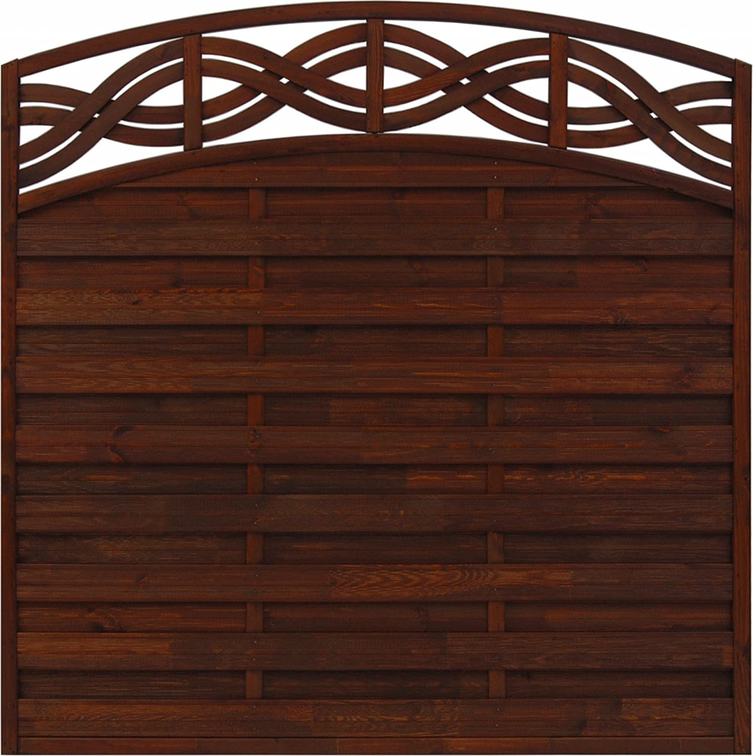 Andrewex wooden fence 164 180 x 180, varnished, brown, Chateau