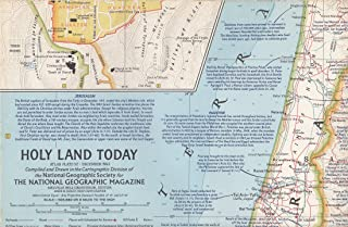 Holy Land Today, National Geographic Map 1963