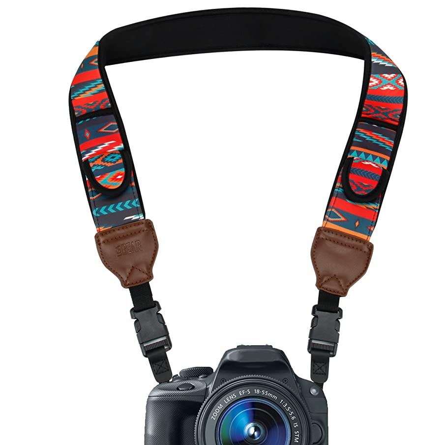 USA Gear DLSR Camera Strap Shoulder Neck with Aztech Neoprene Padding, Quick Release Buckles and Accessory Storage Pockets - Compatible with Canon, Nikon, Sony and More Mirrorless, Instant Cameras