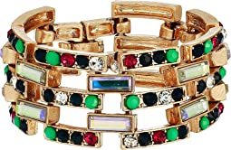 Rhinestone Rectangle Shaped Link Bracelet