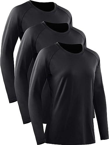 Neleus Women's Dry Fit Workout Running Long Sleeve Shirt