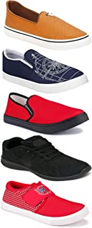 WORLD WEAR FOOTWEAR Sports Running Shoes/Casual/Sneakers/Loafers Shoes for Men Multicolor (Combo-(5)-1219-1221-1140-461-772)