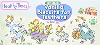 Healthy Times Organic Vanilla Biscuits for Teethers, 6 Ounce