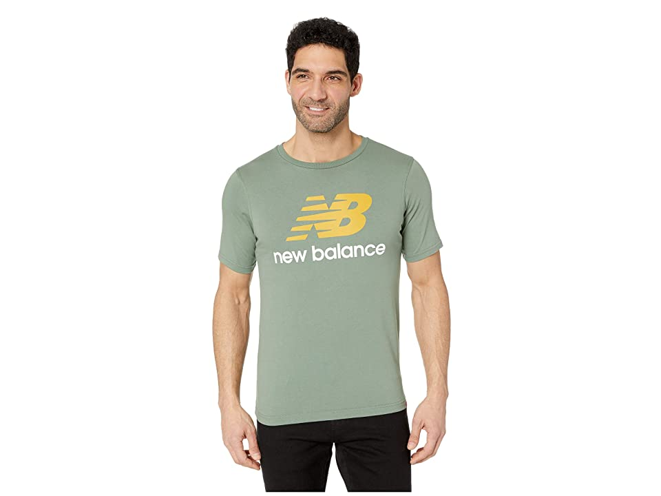 New Balance Essentials Stacked Logo Tee (Vintage Cedar) Men