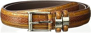 Stacy Adams Men`s 32mm Genuine Leather Lizard Skin Print Belt With Buckle