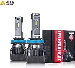 Alla Lighting S-HCR H11 LED Headlight Bulbs Conversion Kits Replacement 10000Lms Xtreme Super Bright Cars Trucks Lights H8 H9, 6K Xenon White