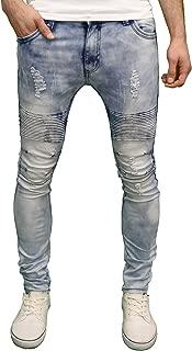 BNWT Mens Soulstar Biker Panelled Detail Stretch Skinny Fit Jeans