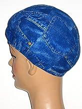 product image for Extra Large Blue Jean Pocket Print Lycra Swim Cap (XL)