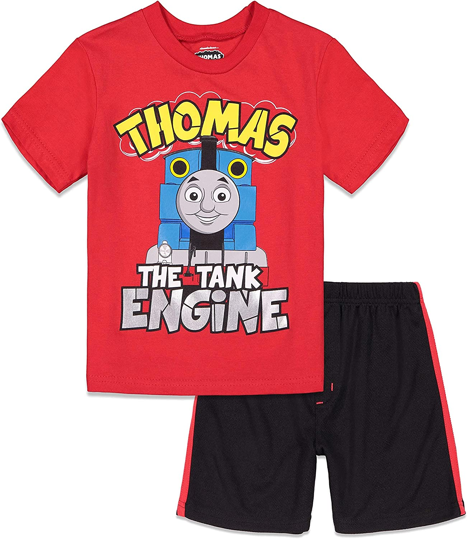Thomas Friends Short Max 47% OFF Sleeve T-Shirt Mesh Shorts Set San Antonio Mall