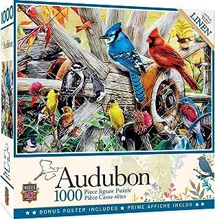 MasterPieces Audubon Linen Jigsaw Puzzle, Backyard Birds, 1000 Pieces 31978