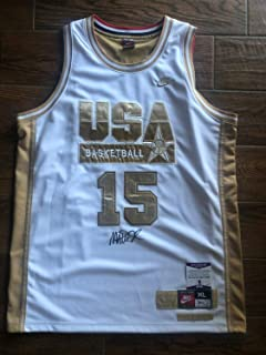 Magic Johnson 92 Dream Team Nike Jersey Autographed Signed Memorabilia Beckett Witness White Gold Lakers