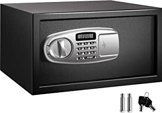 VEVOR Security Safe Box Safe Deposit Box with LCD Screen and Digital Lock, Digital Safe Box, with Two Keys,Carbon Steel Co...