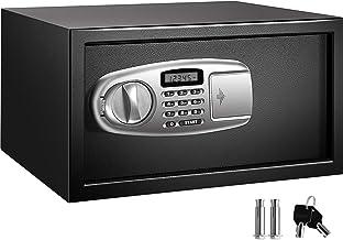 VEVOR Security Safe Box 1.1 Cubic Feet, Safe Deposit Box Black, Cabinet safes 17x14.5x9 Inch, Keypad Safe Digital Safe Box...