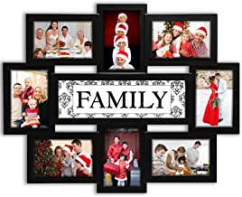 Jerry & Maggie - Photo Frame 22x17 Family Theme Black Picture Frame Selfie Gallery Collage Wall Hanging For 6x4 Photo - 8 ...