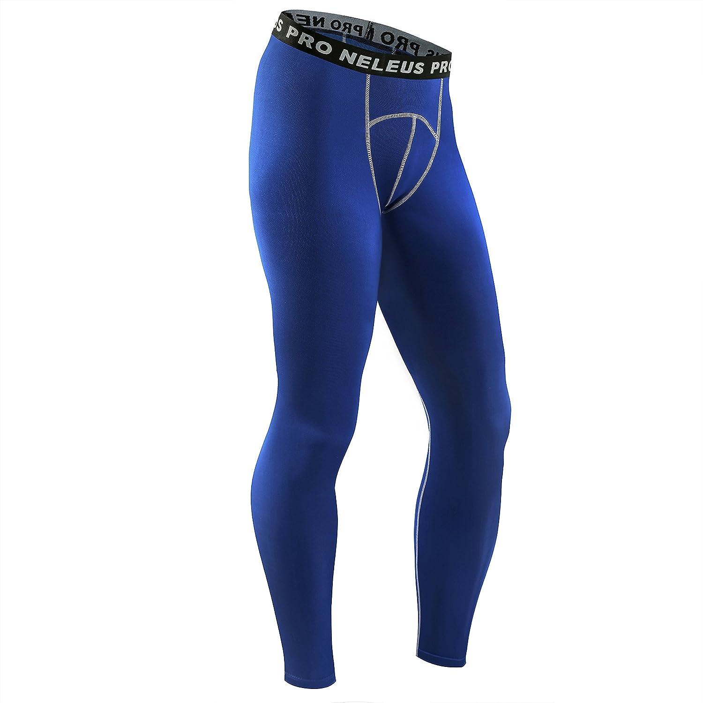 Neleus Mens Compression Pants Running Tights Sport Leggings