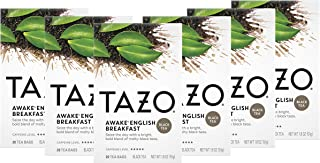 Tazo Awake English Breakfast Tea Bags For a Bold Traditional Breakfast-Style Tea Black Tea Highly Caffeinated Tea 20 Tea B...