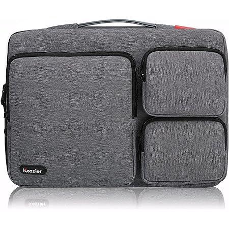 Icozzier 13 13 3 Zoll Laptop Hülle Handtasche Mit Drei Seitentaschen Multifunktionell Laptop Aktentasche Für 13 13 3 Zoll Ultrabook Notebook Macbook Dunkelgrau Elektronik