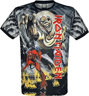 Amplified Clothing Iron Maiden 'Number of The Beast' (Dye Sub) T-Shirt