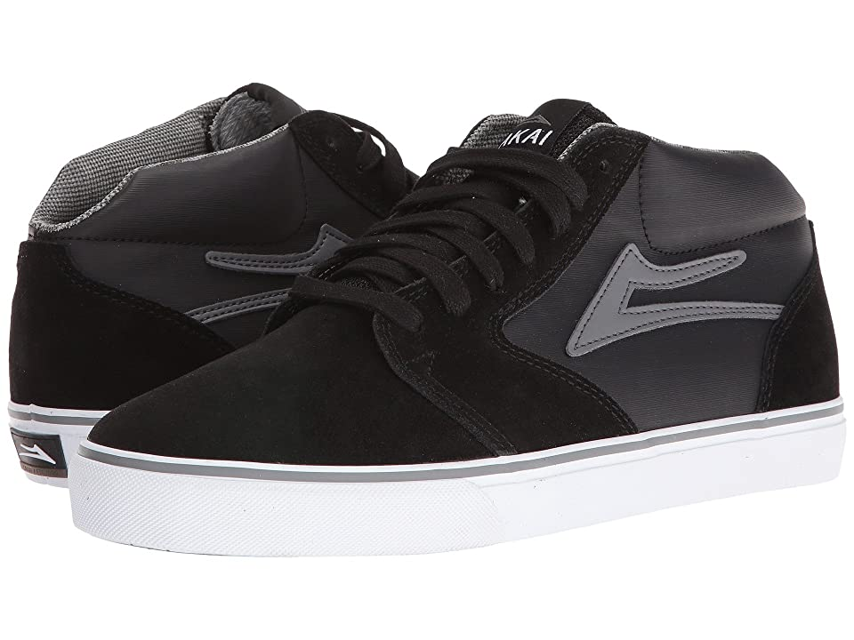 Lakai Fura High Weather Treated (Black/Grey Suede) Men