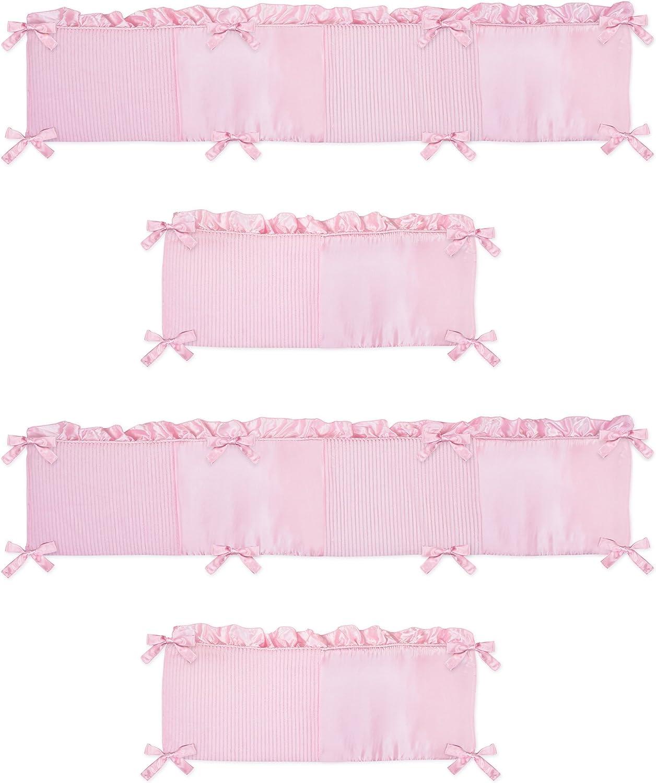 Sweet Jojo Designs Pink Chenille Collection Crib Bumper