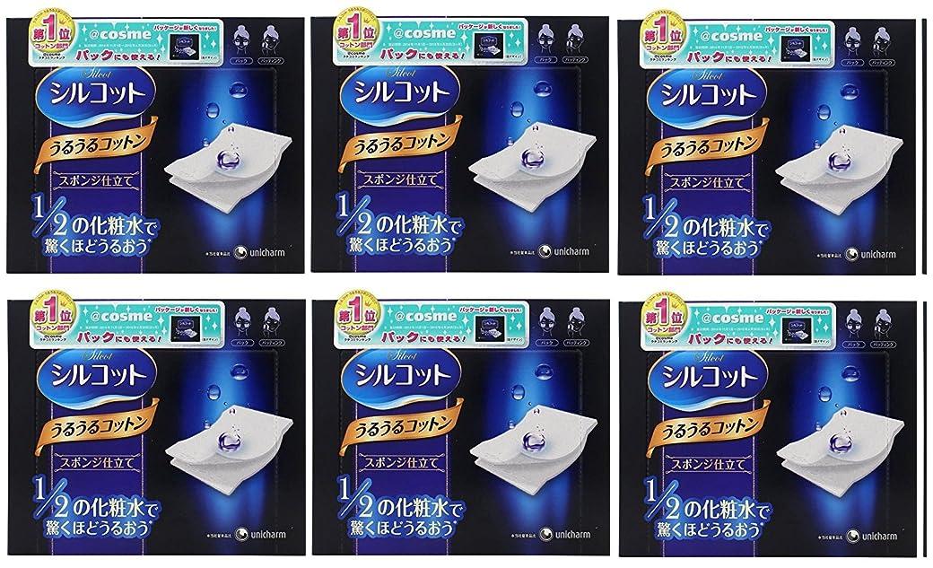 修正ゴールクリエイティブ【セット品】シルコット うるうるスポンジ仕立て(40枚入)x6