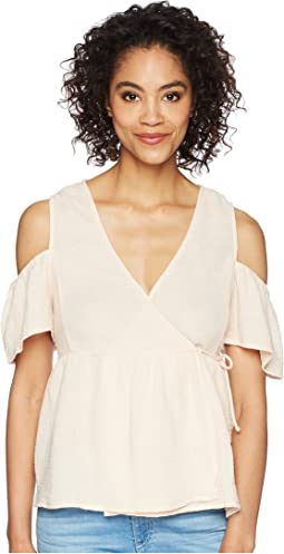Lucky Brand - Cold Shoulder Gauze Top