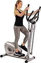 Sunny Health & Fitness SF-E3607 Magnetic Elliptical Bike Elliptical Machine w/ Device Holder, LCD Monitor and Heart Rate M...