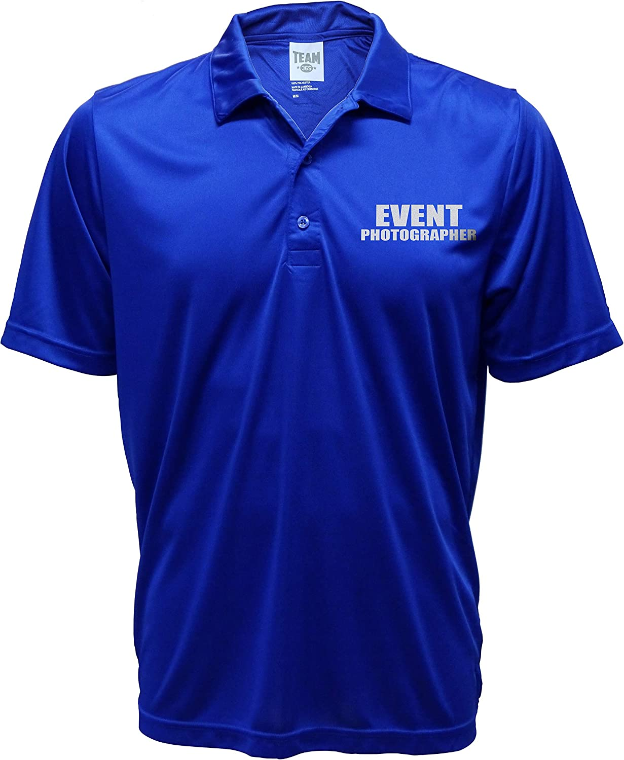 Smart People Clothing Event Photographer Polo Reflective Design,Performance Polo w/Moisture Wicking Technology