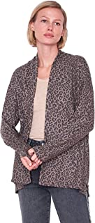 SUNDRY Women's Leopard Button Cardigan Sweater