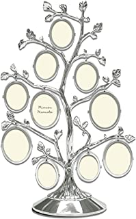 MIMOSA MOMENTS Metal Christmas Family Tree with 10 Hanging Picture Frames, Collage Desk Ornaments