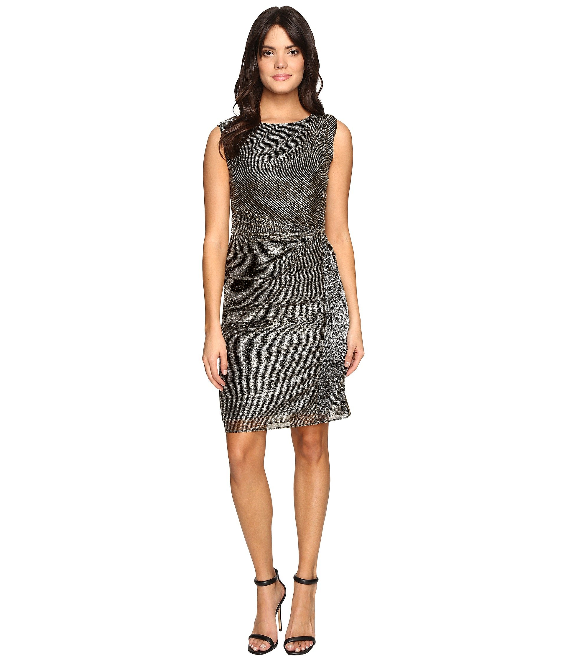 Galaxy Metallic Dress w/ Side Knot Detail