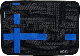 GoodsLand 【3color】 ガジェット ボード A4 固定 固定ツール 収納 充電器 USB イヤホン デジモノ イヤホン ケーブル GRID-IT バンド GD-GGBOARD-BL