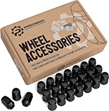 24pcs Black 12x1.5 Metric Wheel Lug Nuts - Closed End Bulge Conical Taper Acorn Cone Seat - 1.4 inch Length - Installs with 19mm or 3/4 inch Hex Socket