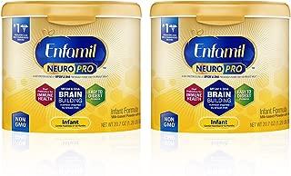 Enfamil NeuroPro Infant Formula - Brain Building Nutrition Inspired by Breast Milk - Reusable Powder Tub, 20.7 oz (Pack of 2)
