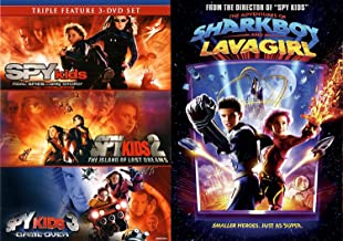 Adventures Spy Kids 1/2/3 DVD Collection Island of Lost Dreams/Game Over + Sharkboy & Lava Girl 4 Film Feature Movie Bundle